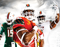 Miami Hurricanes Football Poster