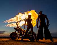 Bike and fire