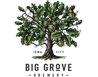 Big Grove Brewery Logomark Illustrated by Steven Noble