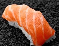 Sushi. Nigirri salmon . Roll Philadelphia