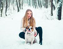 Winter portrait series