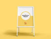 Free Sandwich Board Mockup PSD 2018
