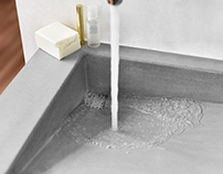 Concrete washbasin / Slant 03
