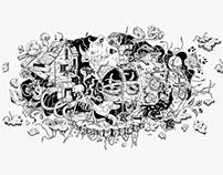 Gagarin. Ilustración PechaKuchaNight 2016
