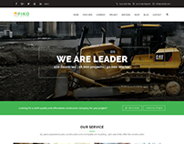 Construction building Business Theme - Pikocon