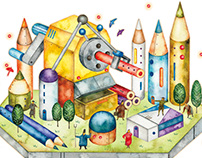 Mechanical StationeryTown (for Book cover)