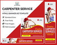 Carpenter Service Banner - HTML5 Ad Template