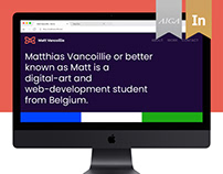 Matt Vancoillie, Personal Website