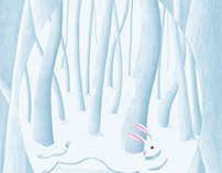 a Rabbit In The Snow