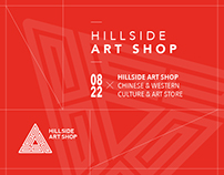 HILLSIDE ART SHOP logo design