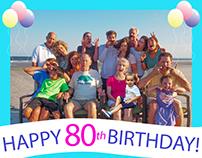80th Birthday Banner Retouch.