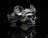Mouse Skull (silver) - Anatomical silver ring