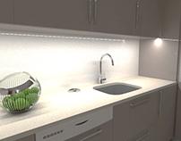 Cozinha lacada brilho