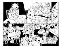 Two pages from a short horror story