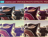 Vintage photo effects PSD - image effects in Photoshop
