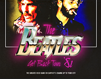 Beatles Retro 80's poster
