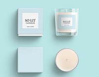 So Lit Candle Packaging Ideas