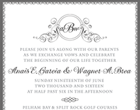 Wedding Invitation & Signage