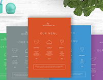Free Menu Flyer PSD. Line and Minimal Flyer