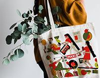 MAXI Supermarket Tote Bags