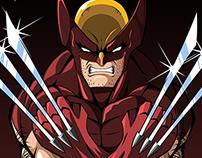 Wolverine Brown Costume art print