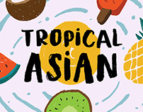 Tropical Asian - Organic Brush Font