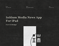 Initium Media News App UI/UX Design