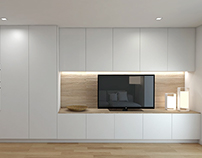 Apartment in white and wood