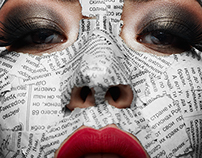 Beauty young Woman with Newspaper on her Face