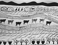 Black&white landscape drawings