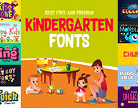 Free and Premium Kindergarten Fonts Collection