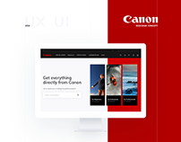 UI | UX Redesign Concept for Canon