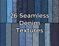 Hi Resolution Seamless Denim Fabric Textures Pack
