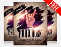 Hard Rock – Free Flyer PSD Template