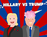 infographic with Hillary and Trump
