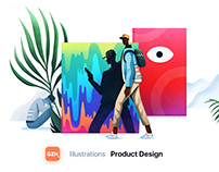 Conceptual Illustrations - GZH Product Design