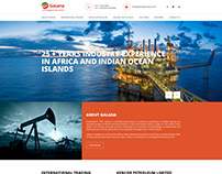 WEBSITE LAYOUT DESIGN - GALANA PETROLEUM