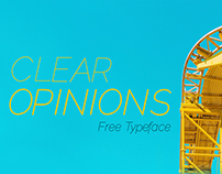Clear Opinions - Free Typeface
