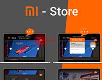 MI-Store Offline, Landing Page