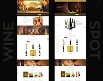 Wine Spot UX web design