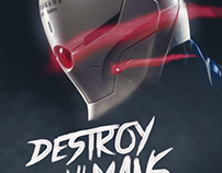 Destroy All Humans - Sketch Poster (3D WIP)