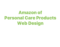 Amazon of Personal Care Products - Web Design