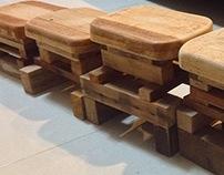 Scrap Wood Furniture Stool Design