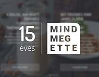 Mindmegette 15th anniversary site design
