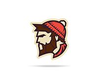 Wausau Loggers Hockey Primary Logo - Concept