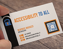Biglietto da visita Accessibility to All