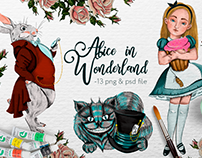 Alise in Wonderland. Png & Psd in a Creative Market