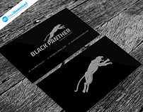 Black Business Card Free Psd