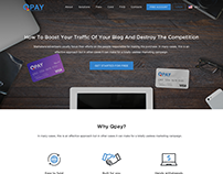 Homepage for Qpay - service for payment based on QRcode