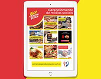 Aky Chame Pizza - Gerenciamento de Mídias